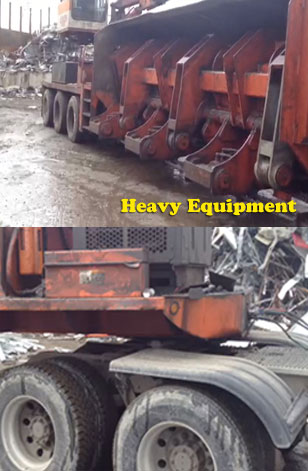Heavy equipment pressure washing