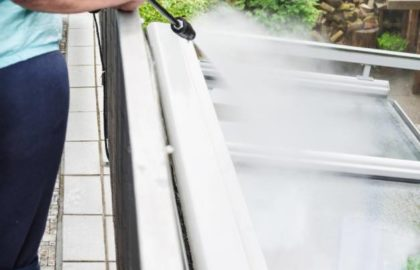Siding and awning cleaning